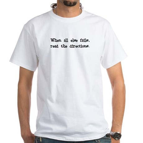 Read Directions White T-Shirt