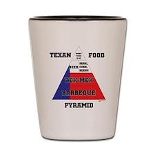 Texan Food Pyramid Shot Glass