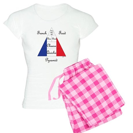 French Food Pyramid Women's Light Pajamas