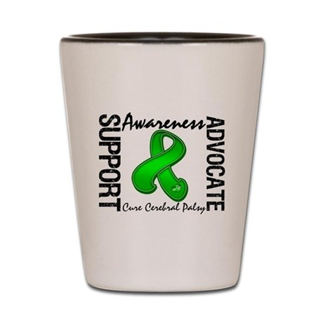 Cerebral Palsy Support Shot Glass