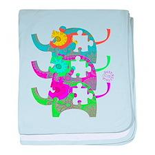 ELEPHANTS FOR AUTISM baby blanket