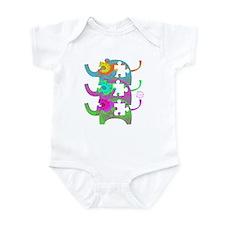 ELEPHANTS FOR AUTISM Infant Bodysuit