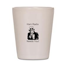 Ham Radio Needs You! Shot Glass