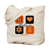 Believe Leukemia Awareness Tote Bag