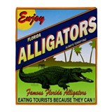 ENJOY ALLIGATORS Throw Blanket