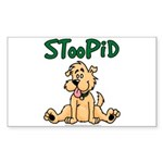 STooPiD Rectangle Sticker