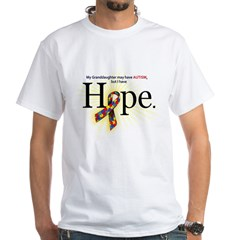 Autism HOPE Ribbon (G'daughter) Mens White T-shirt
