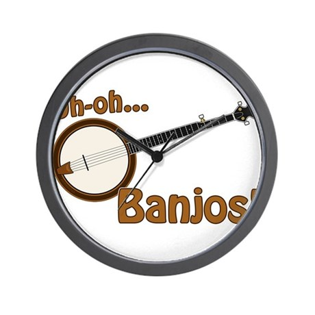 Uh-oh Banjos! Wall Clock