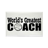 """World's Greatest Baseball Coach"" Magnet"