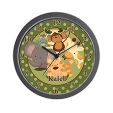 Jungle Safari Wall Clock - Kaleb