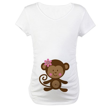 Monkey Belly Print Maternity T-Shirt