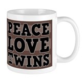 PEACE LOVE AND TWINS Mug