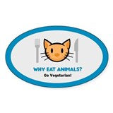 Why Eat Animals? Oval Decal