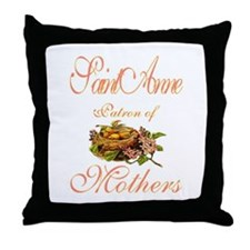 St. Anne - Patron of Mothers Throw Pillow