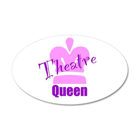Theatre Queen 22x14 Oval Wall Peel