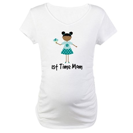 1st Time Mom Ethnic Lady Maternity T-Shirt
