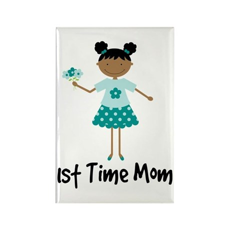 1st Time Mom Ethnic Lady Rectangle Magnet