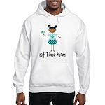 1st Time Mom Ethnic Lady Hooded Sweatshirt