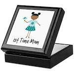 1st Time Mom Ethnic Lady Keepsake Box
