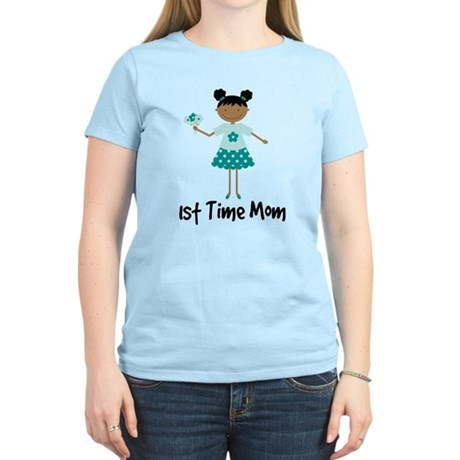 1st Time Mom Ethnic Lady Women's Light T-Shirt