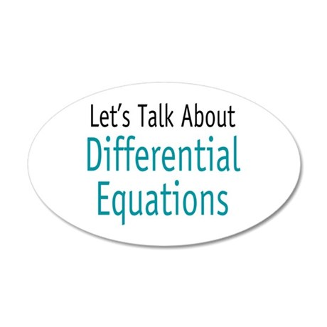 Differential Equation 22x14 Oval Wall Peel