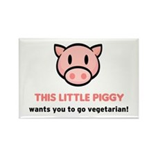 """This little piggy..."" Rectangle Magnet"