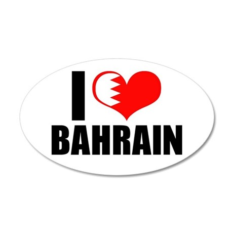 I Heart Bahrain 22x14 Oval Wall Peel