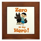 Zero is my Hero Framed Tile