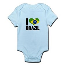 I Heart Brazil Infant Bodysuit