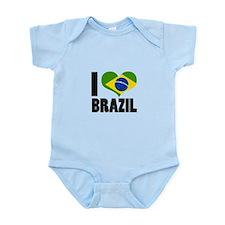 I Heart Brazil Infant Bodysuit