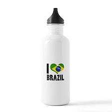 I Heart Brazil Water Bottle