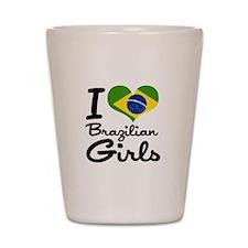 I Heart Brazilian Girls Shot Glass