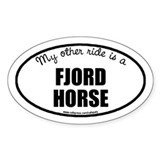 My Other Ride Norwegian Fjord Horse Oval Decal