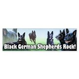 Black German Shepherds Rock Bumper Sticker