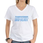 I'd Rather Be Watching Wipeout Women's V-Neck T-Shirt