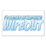 I'd Rather Be Watching Wipeout Sticker (Rectangle)