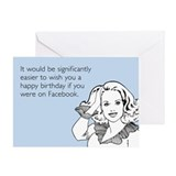 Happy Birthday on Facebook Greeting Card