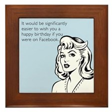 Happy Birthday on Facebook Framed Tile