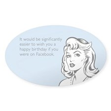 Happy Birthday on Facebook Decal