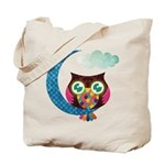 My Crescent Owl Tote Bag - LOOK BACK!