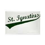 Baseball Script Rectangle Magnet (10 pack)