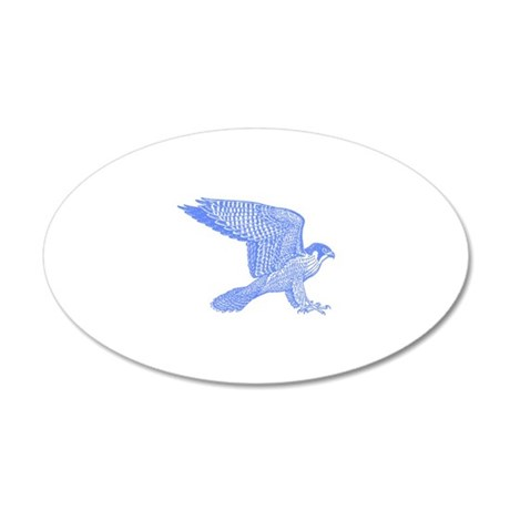 falcon (blue) 38.5 x 24.5 Oval Wall Peel