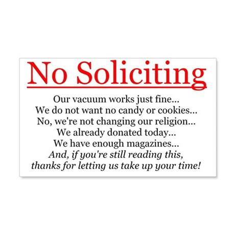 No Soliciting Wall Sticker