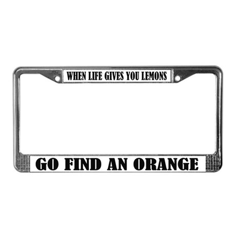 Funny Saying License Frame