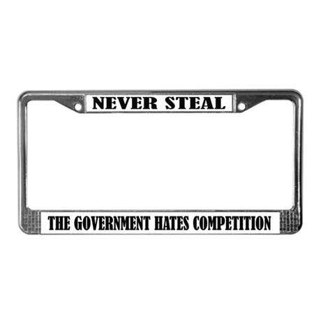 Funny Government License Frame