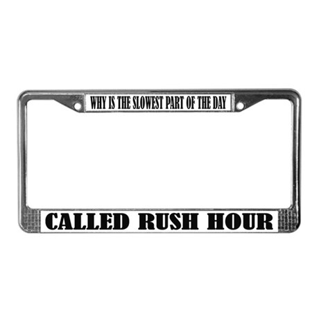 Funny Commuter License Frame