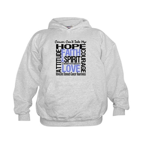 Stomach Cancer Can'tTakeHope Kids Hoodie
