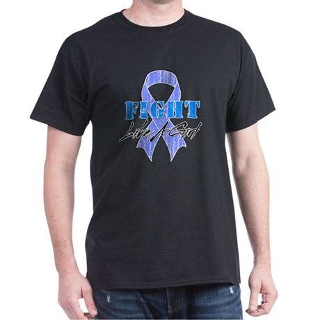 Stomach Cancer FightLikeAGirl Dark T-Shirt