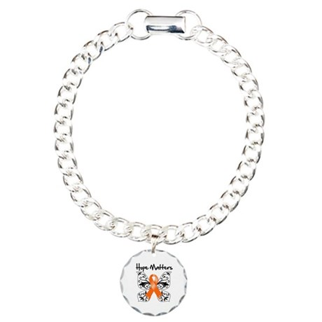 Hope Matters Leukemia Charm Bracelet, One Charm
