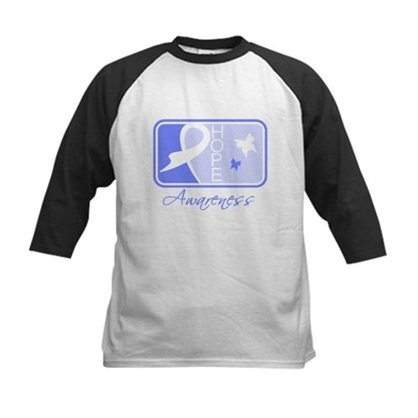 Stomach Cancer Hope Tile Kids Baseball Jersey